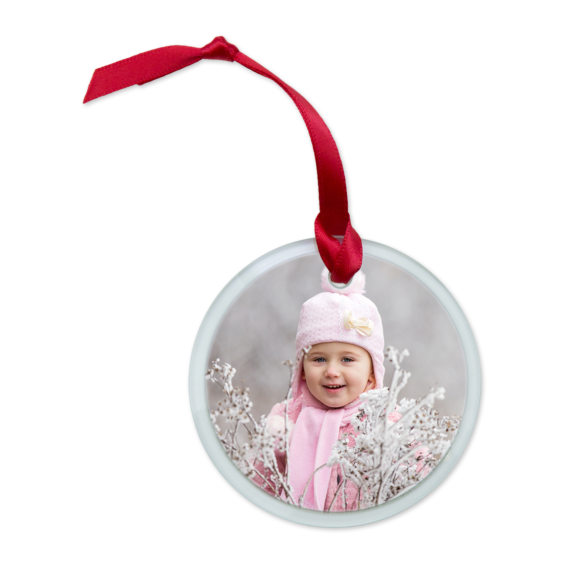 Icon Glass Round Ornament